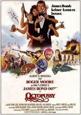 James Bond 007 Octopussy Roger Moore  EA-Filmplakat A1 gefaltet 1983