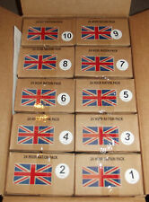 BRITISH ARMY CURRENT 24 HOUR RATION PACKS, MENUS X 10, BOX A - NEW