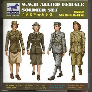 BRONCO 2nd Guerre Mondiale Alliés Femelle Soldat Ensemble En 1/35 037 St Do