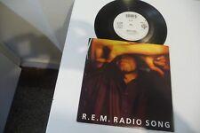 R.E.M. 45T RADIO SONG / LOVE IS ALL AROUND.   PROMO STICKER .