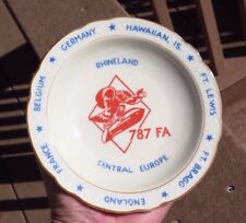 WWII WW2 Porcelain Cigarette Ashtray Saucer Plate 787th Field Artillery Germany