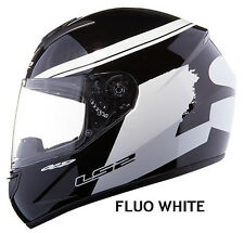 LS2 FF352 ROOKIE FLUO WHITE FULL FACE MOTORCYCLE HELMET XL EXTRA LARGE