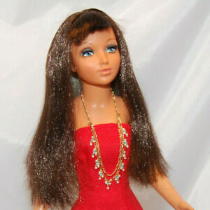 "IDEAL TIFFANY TAYLOR DOLL 19"" REVESIBLE HAIR FROM BLONDE-BRUNETTE VINTAGE"
