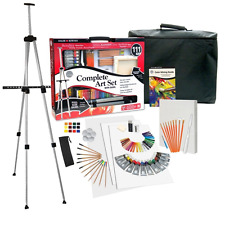 Complete Art Kit Easel Acrylic Painting Drawing Supplies Artist Set 111 Piece