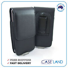 A2-BLACK LEATHER BELT CLIP CASE HOLSTER FOR SAMSUNG GALAXY ACE PLUS GT-S7500T