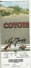 Mike Zigomanis Autographed 2006 Phoenix Coyotes Hockey Ticket