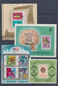 XC89370 Maldives mixed thematics sheets XXL MNH