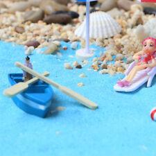 1Pcs Boat and 2pcs Oar Doll House Miniatures Fairy Garden Gnome Decor Ornaments