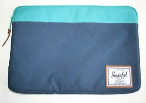 "HERSCHEL SUPPLY Co Anchor Blue Laptop Sleeve Case 15/16in. Mac Book 15"" RRP:£45"