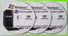 HP Pavilion p6608f Factory Recovery Media 3-Discs / Windows 7 Home 64-bit