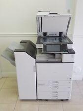 Ricoh Mpc3503 Laser Multifunction Color Printer Copier Stapler Finisher
