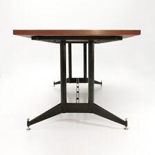 Tavolo da pranzo allungabile con piano in teak anni '50, dining table, italian