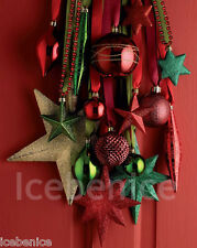 50 Luxury Christmas Tree Decorations - Baubles Ornaments Red & Green