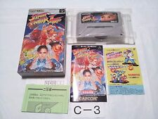 Boxed/Street Fighter Ⅱ Turbo /S Famicom SFC SNES /Japanese Ver./C3