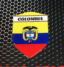 "Colombia Proud Shield Flag Domed Decal Bogotá Emblem Sticker Car 3D 2.3x 3.3"""