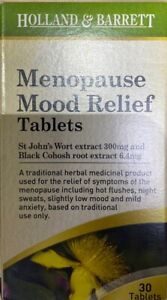 Menopause Mood Relief Tablets 30 Tablets Exp 08/2021