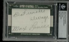 2012 Leaf History of Baseball - MAX LANIER - Autograph Deceased CARDINALS BROWNS