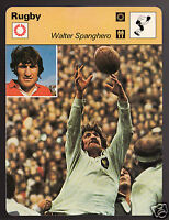 WALTER SPANGHERO French Rugby Player Photo 1978 SPORTSCASTER CARD 48-05