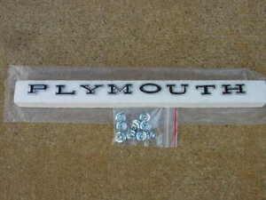 70 Plymouth Road Runner Rear GTX Satellite Superbird LETTER SET P-L-Y-M-O-U-T-H
