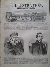 L' ILLUSTRATION 1847 N 220 CHEF ARABE BOU-MAZA ET LE CAPITAINE RICHARD A PARIS