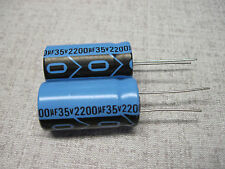 (2) NEW Power Supply Caps 2200uf@35VDC (for Dynaco PAS Tube Preamplifier)