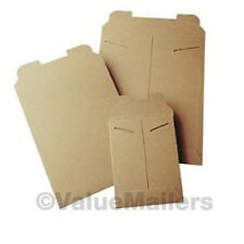 50 - 18 x 24 Kraft Rigid Photo Mailers Tab Locking Stay Flats 18x24 Stayflats