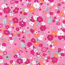 "ROBERT KAUFMAN ""LONDON CALLING 5"" BLOOM Pink LAWN by yard"