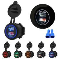 Dual USB QC 3.0 Fast Car Charger Socket Power Outlet RV Mobile