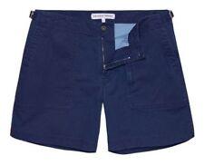 Cotton Blend Patternless Cargo, Combat Slim Shorts for Men