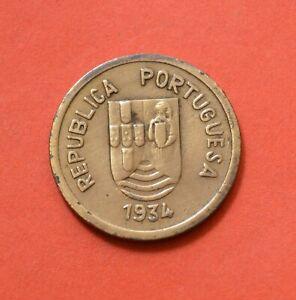 INDIA-PORTUGUESE, 1 Tanga 1934, Bronze      [#8437]
