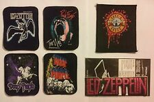 LOT 5 Vintage 70s Classic Rock Music Band Patches LED ZEP PINK FLOYD DEEP PURPLE