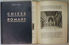 Publio Parsi CHIESE ROMANE 1937 Pero Familia Milano Roma
