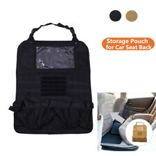 Tactical Molle Storage Pouch for Car Seat Back Cushion Organizer Auto Protector