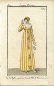 JOURNAL DES DAMES ET DES MODES  REGENCY FASHION   COSTUME PARISIEN  1809  984