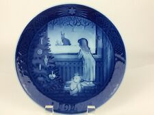 Royal Copenhagen Denmark Collector Plate Waiting For Christmas 1982 Signed