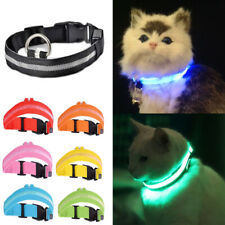 Light Up Cat Safety Collar Rechargeable Pet Kitten Flashing Glow LED Adjustable