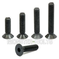 1/4-20  Flat Head Socket Caps Screws Alloy Steel Black Oxide SAE Countersunk 82°