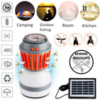 UV Solar LED Electric Fly Trap Zapper Insect Bug Pest Mosquito Killer+Night Lamp