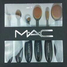 M.A.C Oval Makeup Brush Cosmetic Foundation Powder Blush 6 pieces FLEXIBLE MAC