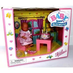 Zaph Creations Baby Born Miniworld HAPPY BIRTHDAY DOLL & ACCESSORIES