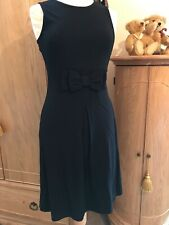 Next Black Dress Size 10 Bow Detail To Front, Side Zip, New Without Tags