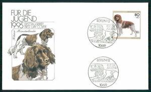 GERMANY ART-FDC 1995 FAUNA PETS HUNDE DOGS DOG CHIEN MÜNSTERLÄNDER ef42