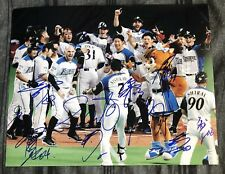 Nippon Ham Fighters Team Signed 11x14 Photo 12 Autographs AUTOS Nakata WOW
