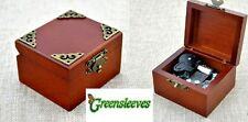 Vintage Classic Square Wind Up Music Box : Greensleeves