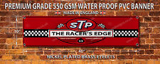 STP THE RACERS EDGE WATERPROOF 550GSM GRADE PVC BANNER.GARAGE,WORKSHOP.