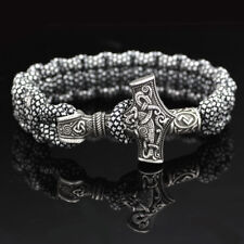 Handmade Viking Bracelet Jewelry Thor Mjolnir Hammer Norway Mjolnir Viking