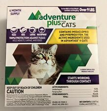 New Adventure Plus Triple Flea Protection for Cats 9+ Lb's 4 Month Supply