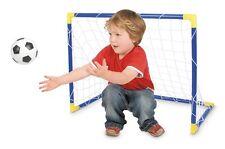 KIDS MINI FOOTBALL SOCCER GARDEN GOAL POST SET NET BALL INDOOR OUTDOOR SPORT TOY