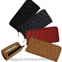 NEW Ladies QUILTED Continental Leather PURSE/WALLET GiGi Zip Around Gift Boxed