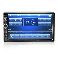 """7"""" Double 2 DIN Car Stereo Radio MP5 Bluetooth Touch Screen USB AUX Mirror M4"""
